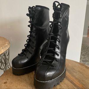 ZARA Heel Combat Boot 39